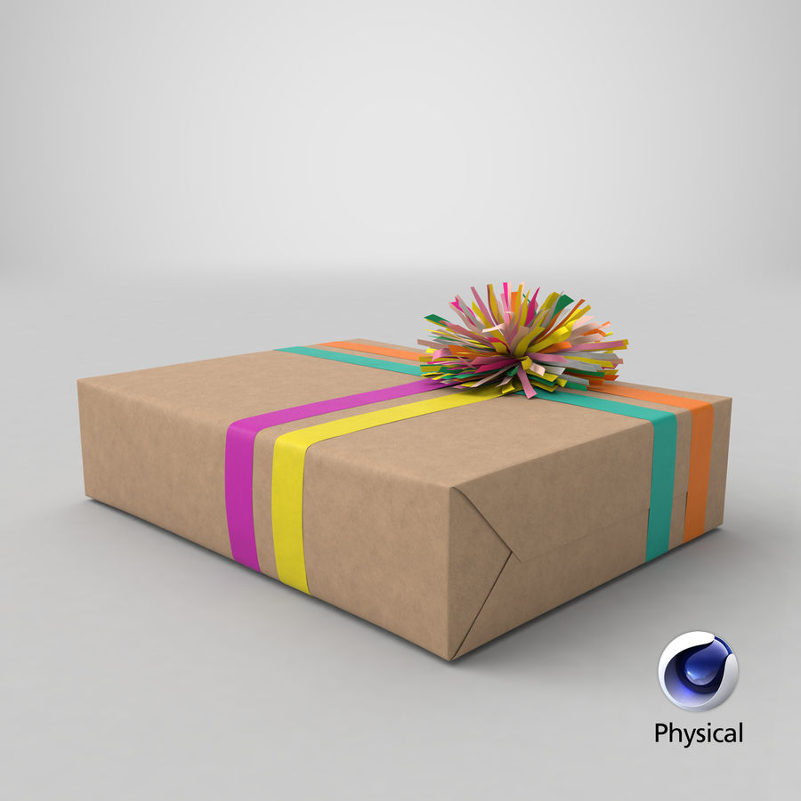 Birthday Present 01 royalty-free 3d model - Preview no. 49