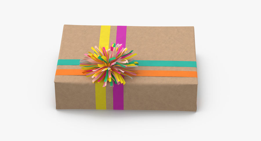 Birthday Present 01 royalty-free 3d model - Preview no. 7