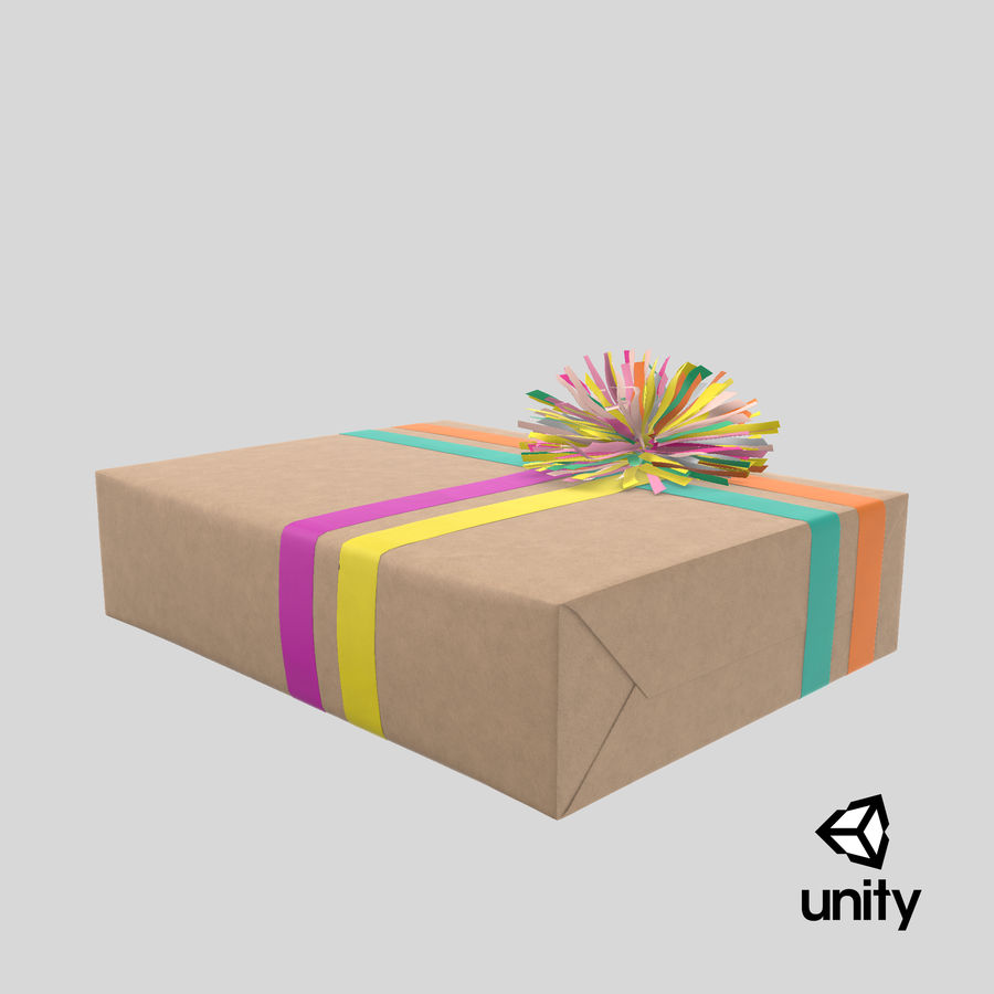 Birthday Present 01 royalty-free 3d model - Preview no. 47