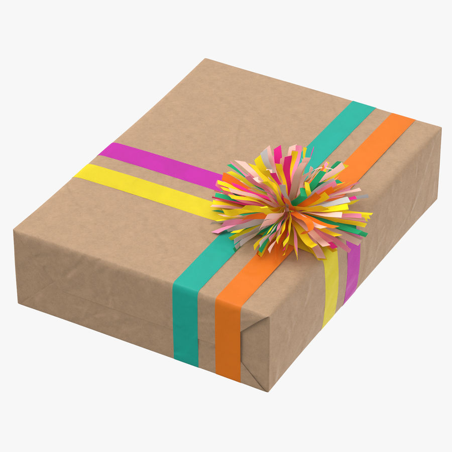 Birthday Present 01 royalty-free 3d model - Preview no. 1
