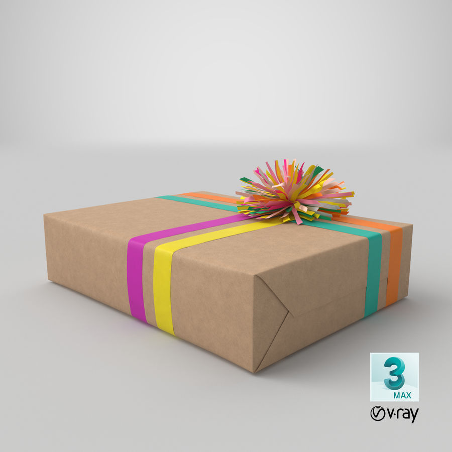 Birthday Present 01 royalty-free 3d model - Preview no. 41