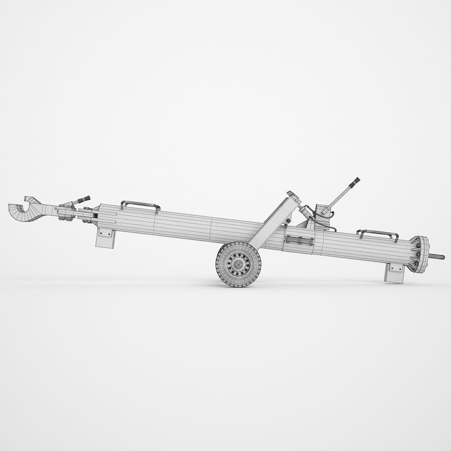 航空機牽引バー02 royalty-free 3d model - Preview no. 6