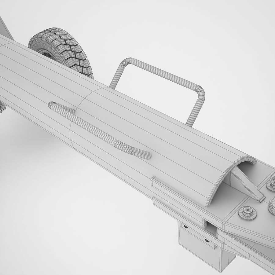 航空機牽引バー02 royalty-free 3d model - Preview no. 40
