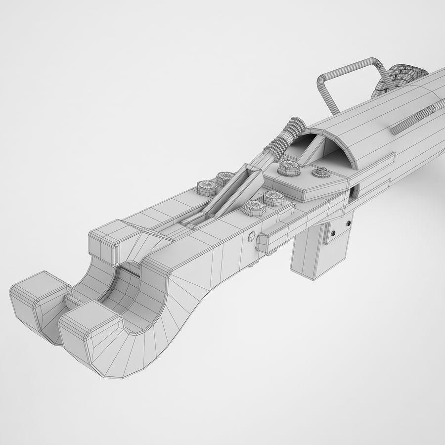 航空機牽引バー02 royalty-free 3d model - Preview no. 16