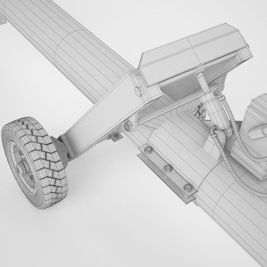 航空機牽引バー02 royalty-free 3d model - Preview no. 24