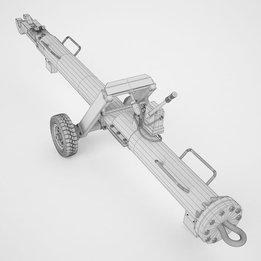 航空機牽引バー02 royalty-free 3d model - Preview no. 10