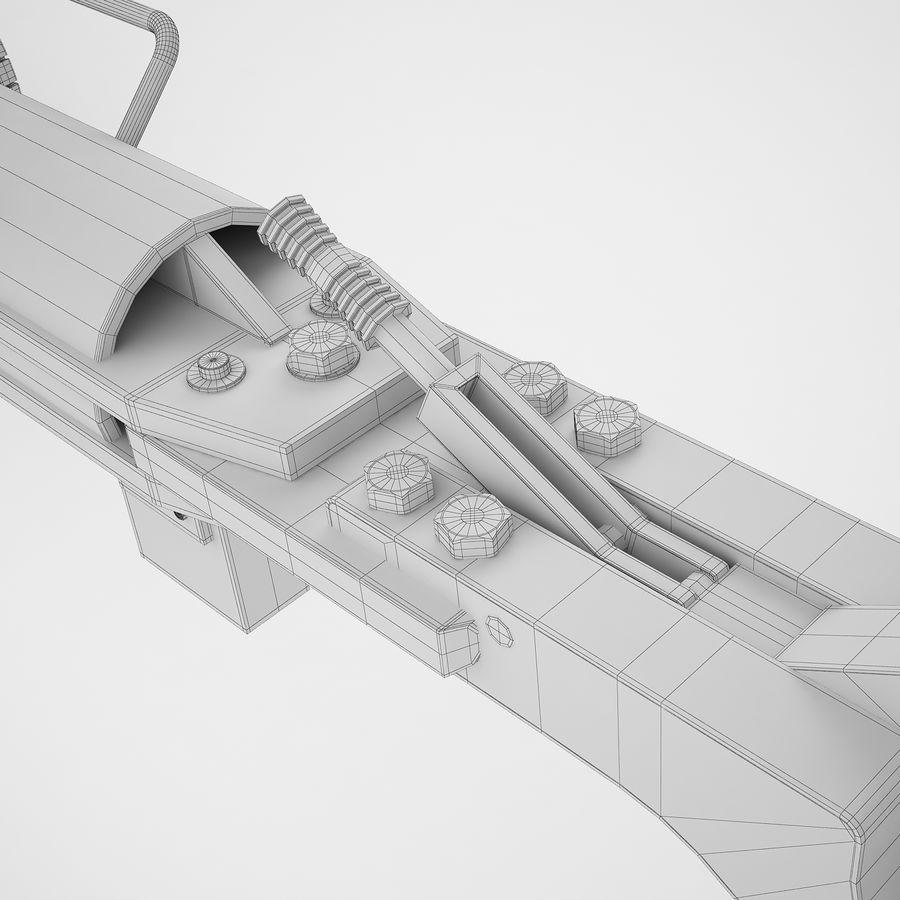 航空機牽引バー02 royalty-free 3d model - Preview no. 42