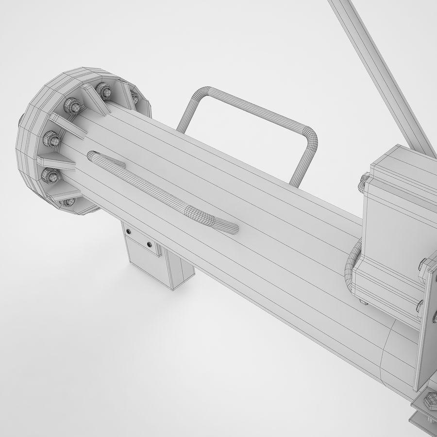 航空機牽引バー02 royalty-free 3d model - Preview no. 34