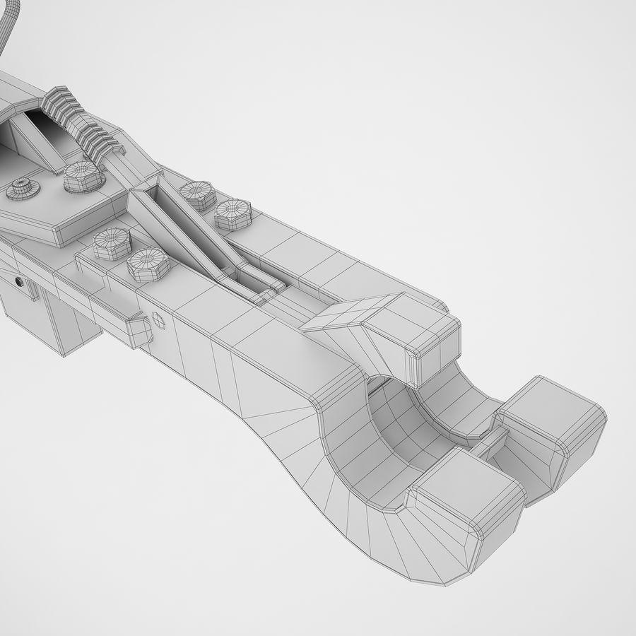 航空機牽引バー02 royalty-free 3d model - Preview no. 44