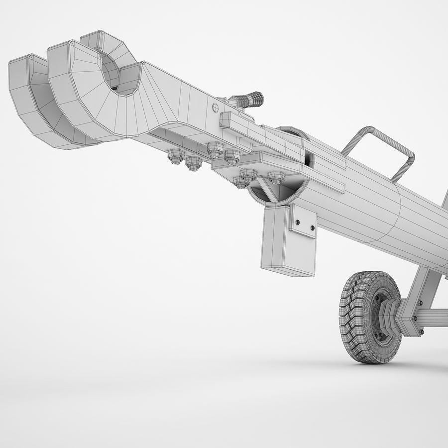 航空機牽引バー02 royalty-free 3d model - Preview no. 18