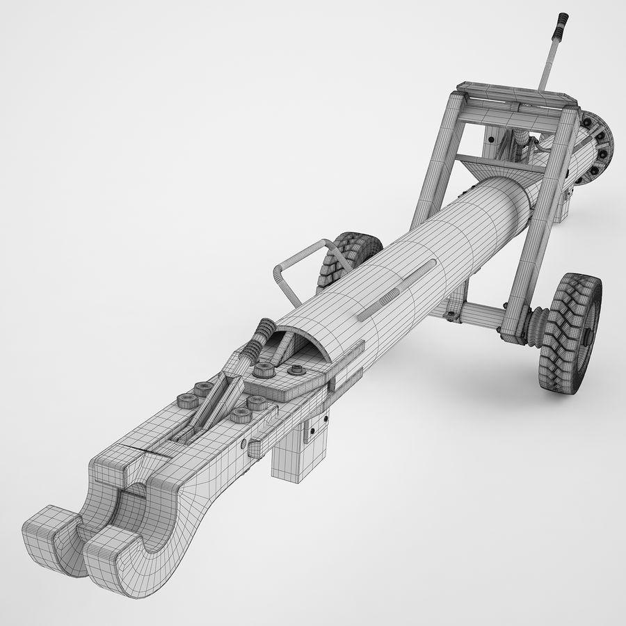航空機牽引バー02 royalty-free 3d model - Preview no. 3