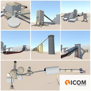 Mineralbearbetningsbyggnader och enheter 3d model