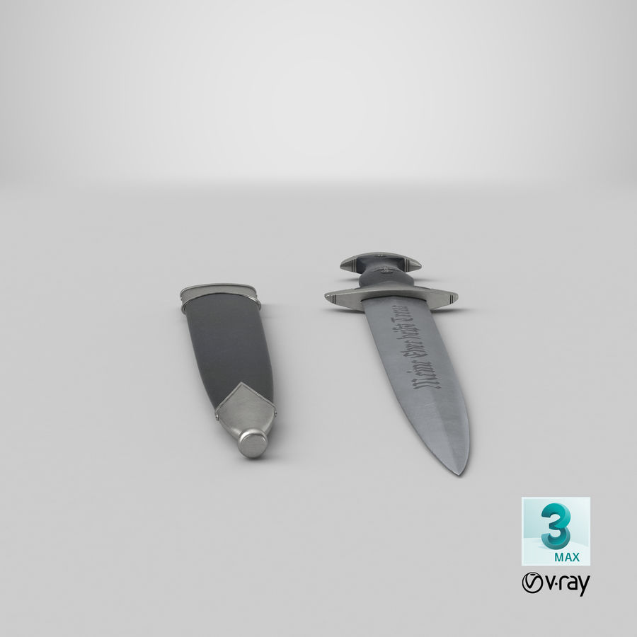 SS Knife - WWII royalty-free 3d model - Preview no. 23