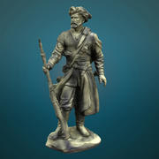 statue of Colonist 3d model