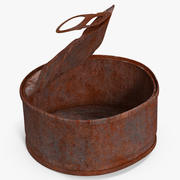Tin Can Open Rusty 3 3d model