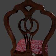 Cadeira de madeira interior 3d model