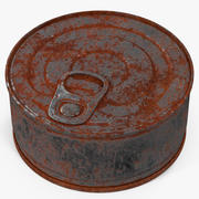 Tin Can Rusty 3 3d model
