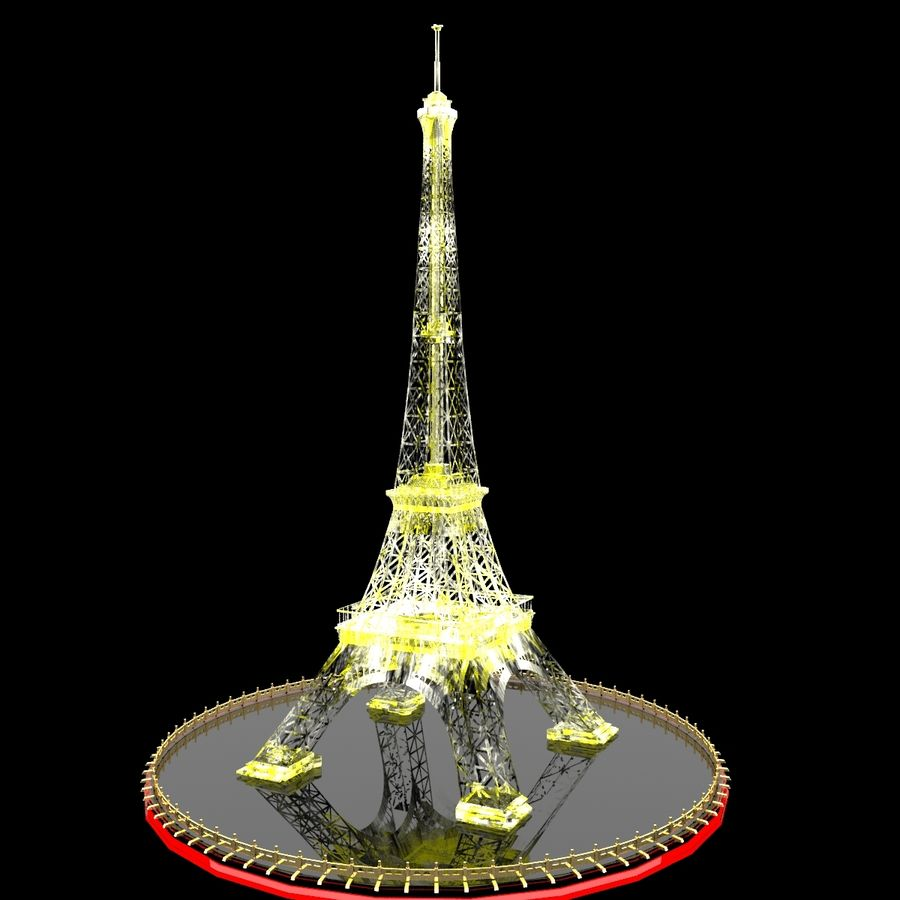 Torre Eiffel royalty-free 3d model - Preview no. 8