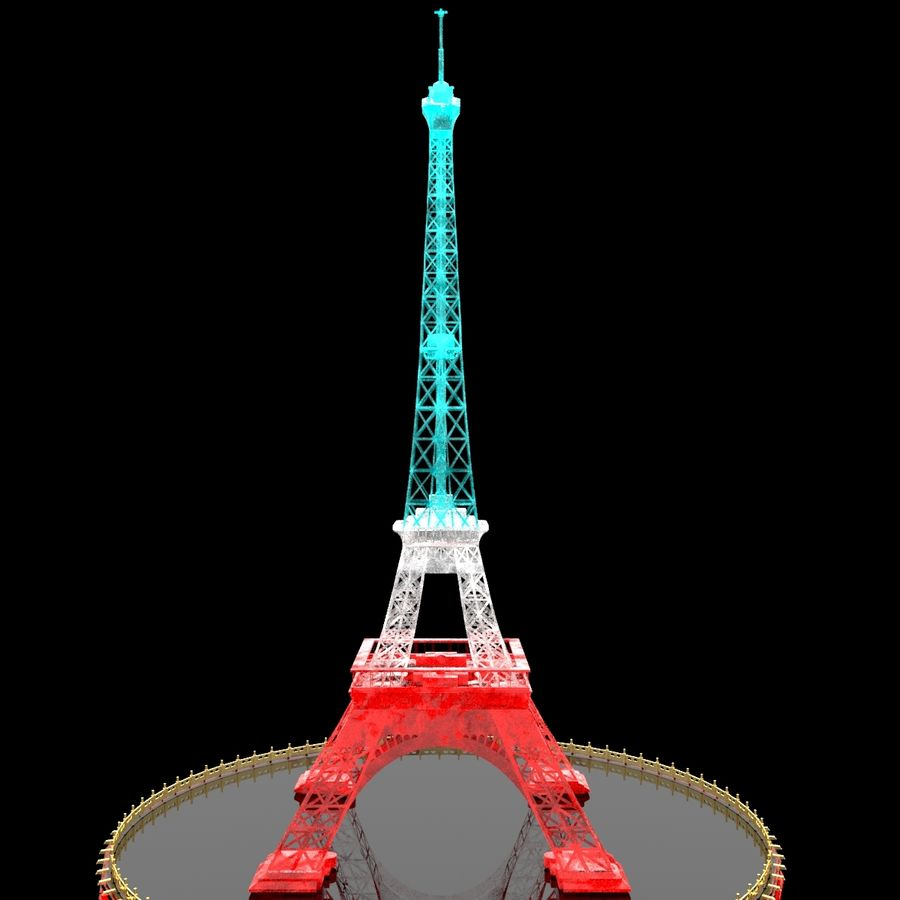 Torre Eiffel royalty-free 3d model - Preview no. 1