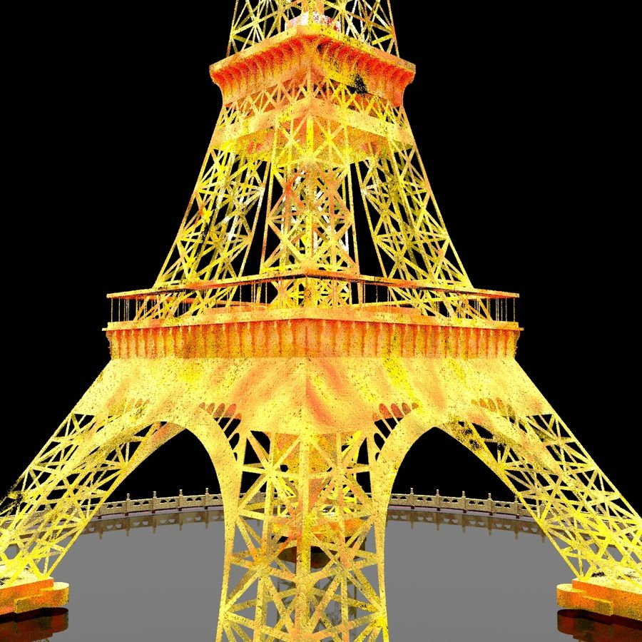 Torre Eiffel royalty-free 3d model - Preview no. 11