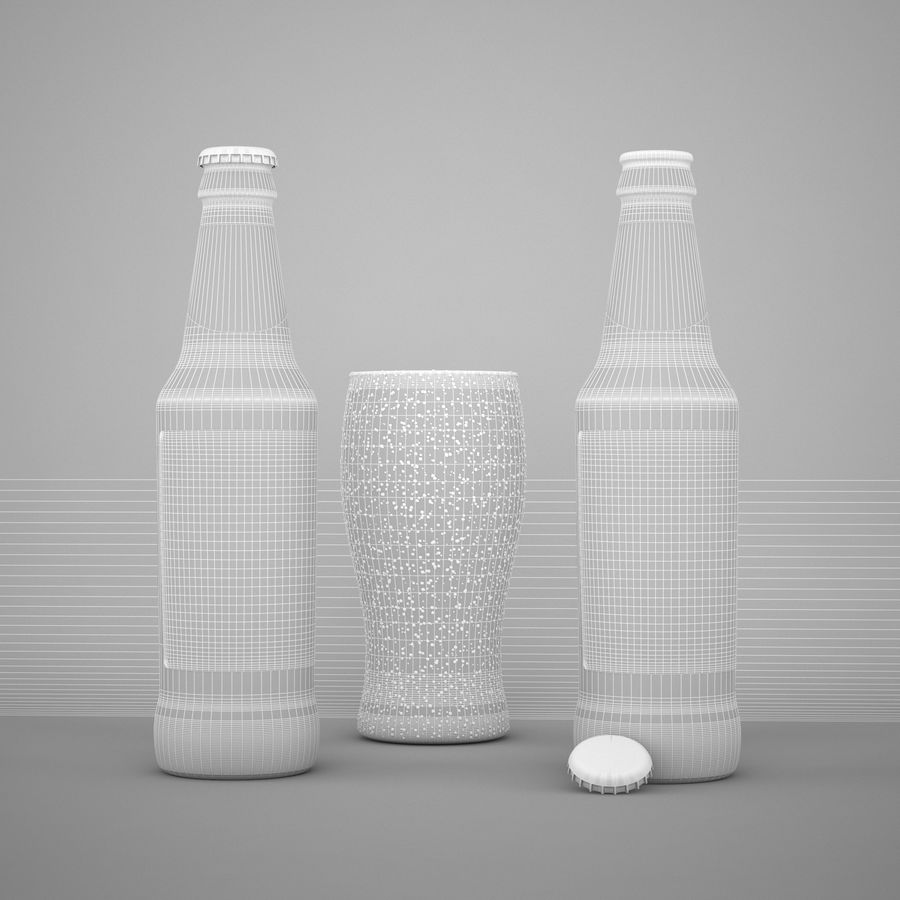 Piwo Guinness Extra Stout royalty-free 3d model - Preview no. 5