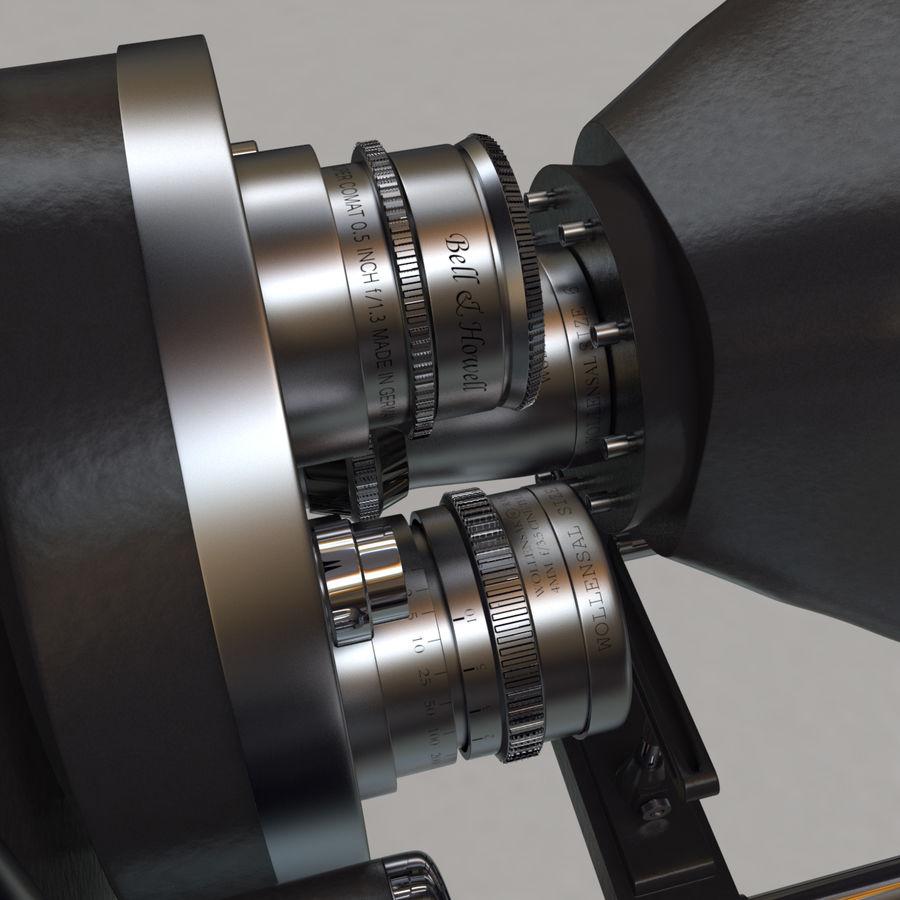 Retro Movie Camera royalty-free 3d model - Preview no. 5