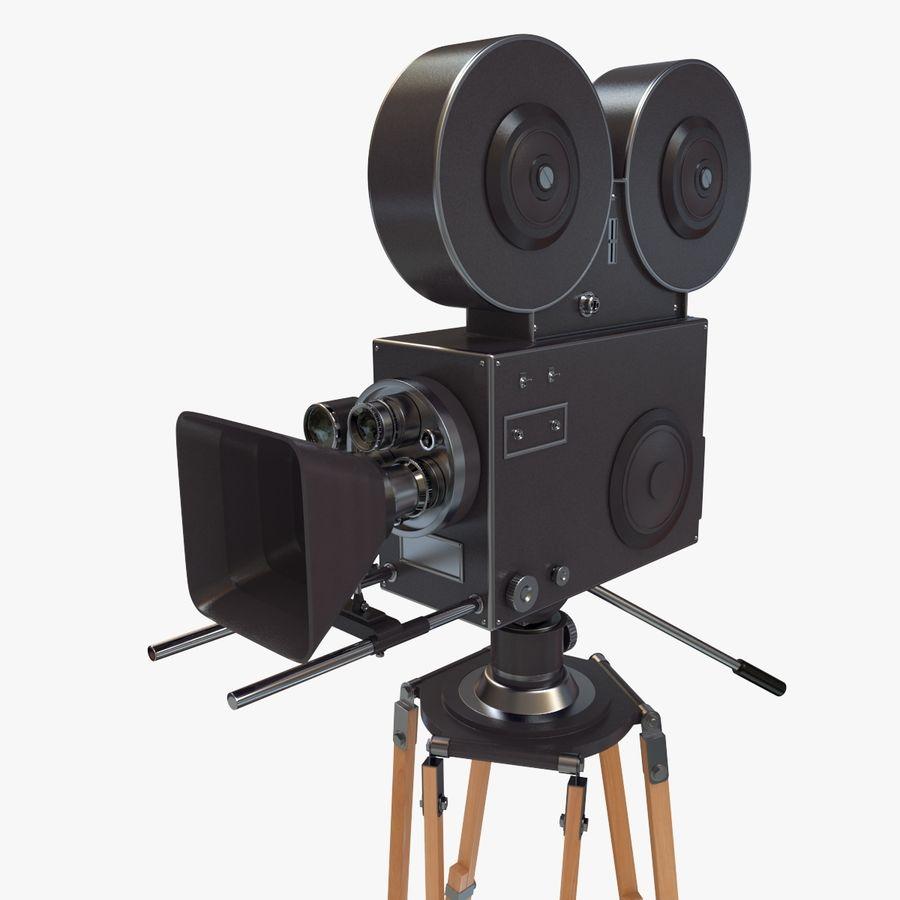 Retro Movie Camera royalty-free 3d model - Preview no. 11