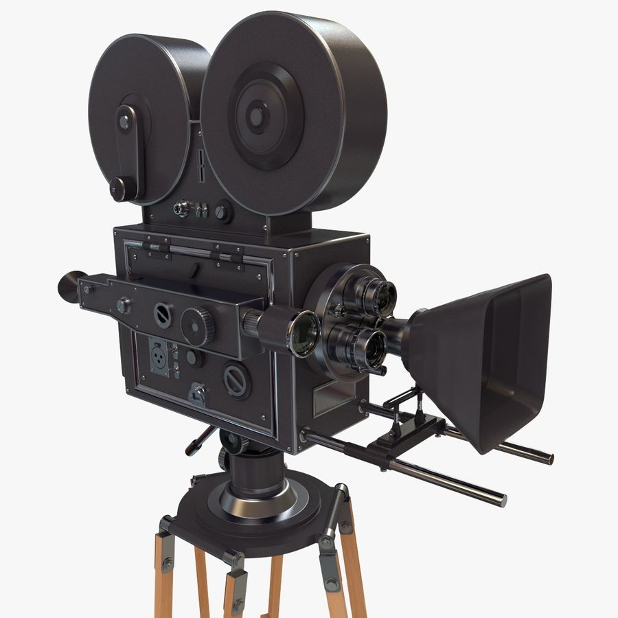 Retro Movie Camera royalty-free 3d model - Preview no. 1