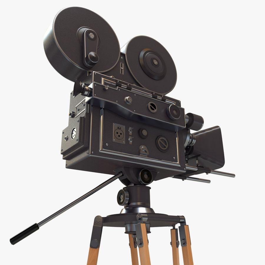 Retro Movie Camera royalty-free 3d model - Preview no. 9