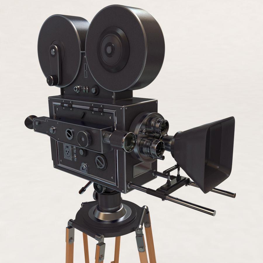 Retro Movie Camera royalty-free 3d model - Preview no. 2