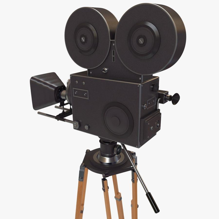 Retro Movie Camera royalty-free 3d model - Preview no. 10