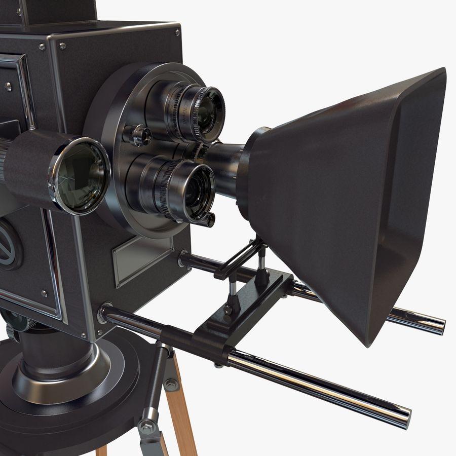 Retro Movie Camera royalty-free 3d model - Preview no. 12