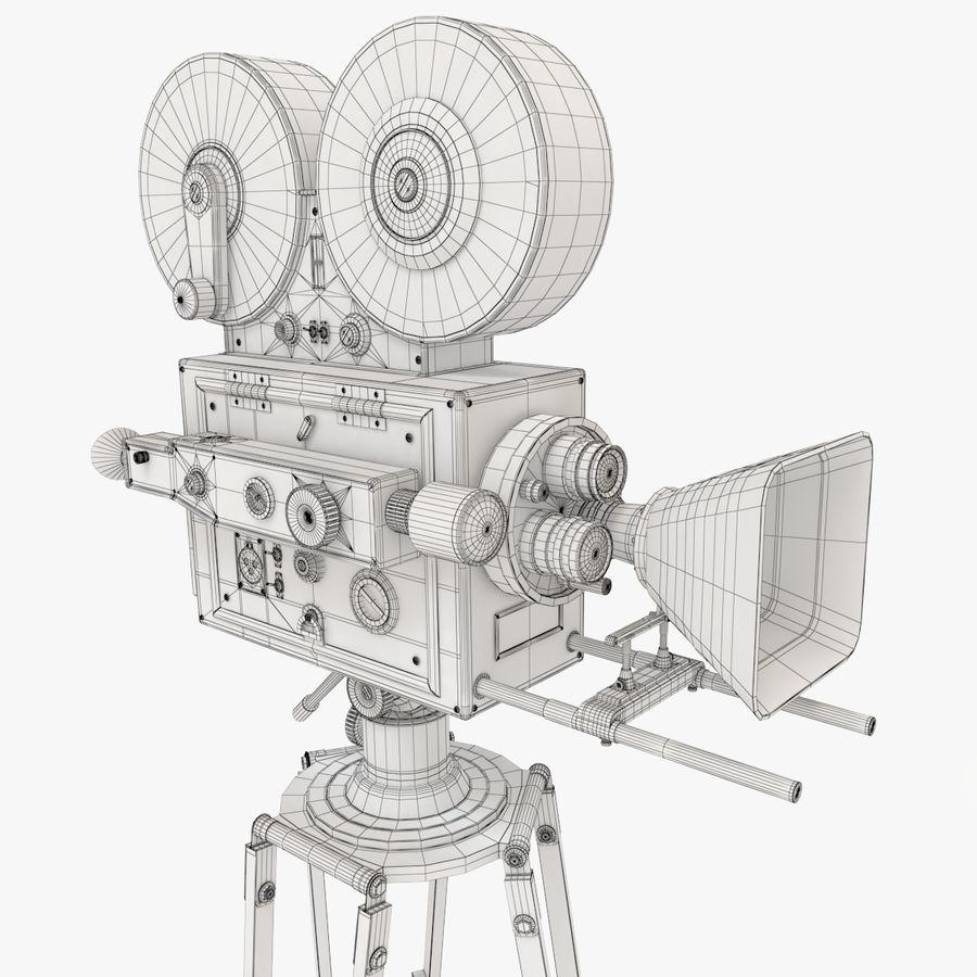 Retro Movie Camera royalty-free 3d model - Preview no. 15