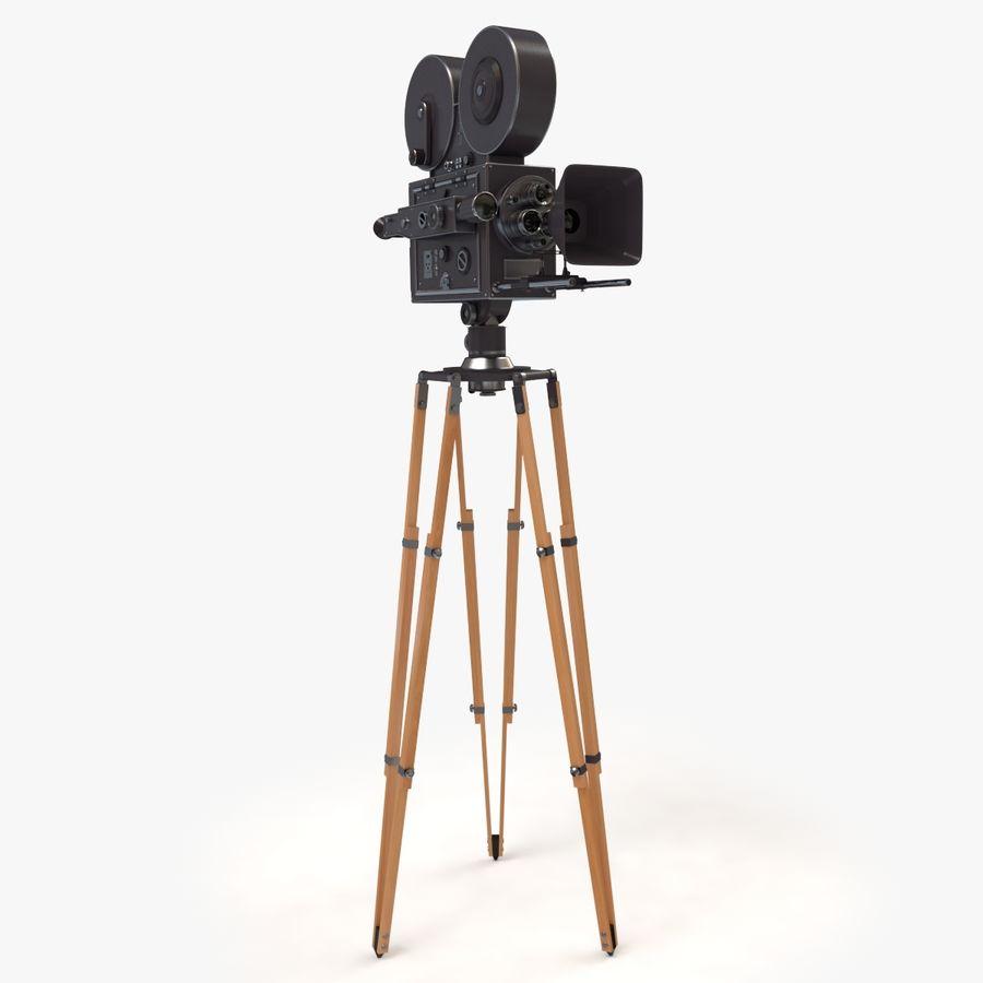 Retro Movie Camera royalty-free 3d model - Preview no. 3