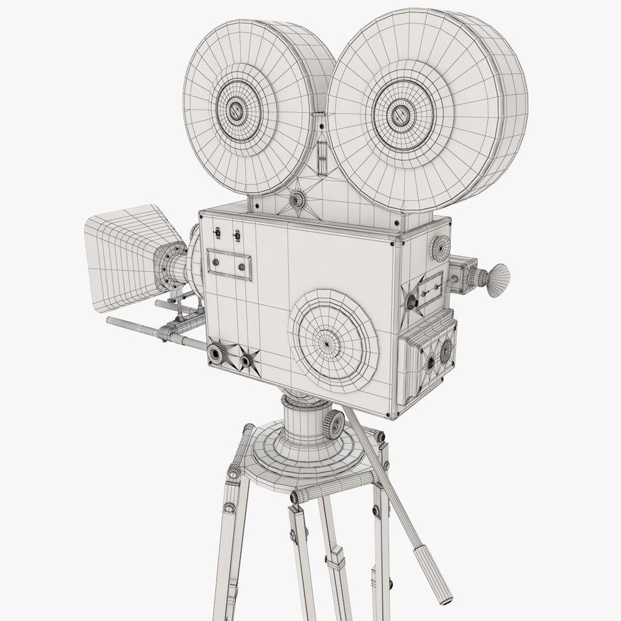 Retro Movie Camera royalty-free 3d model - Preview no. 17