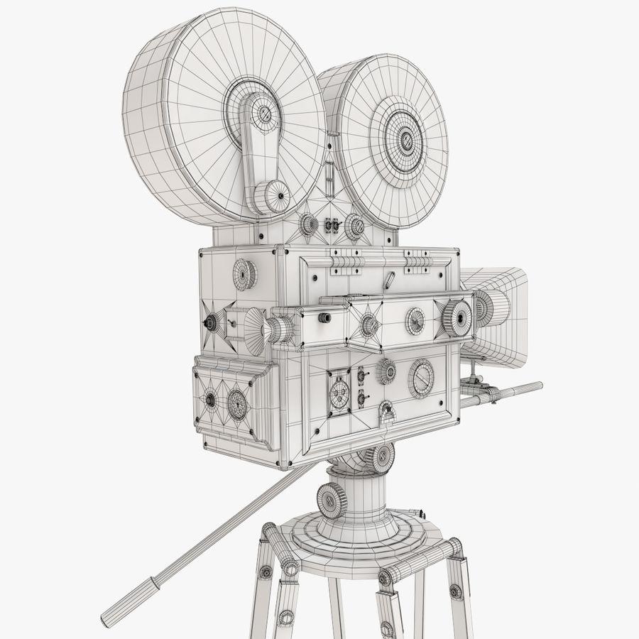 Retro Movie Camera royalty-free 3d model - Preview no. 16