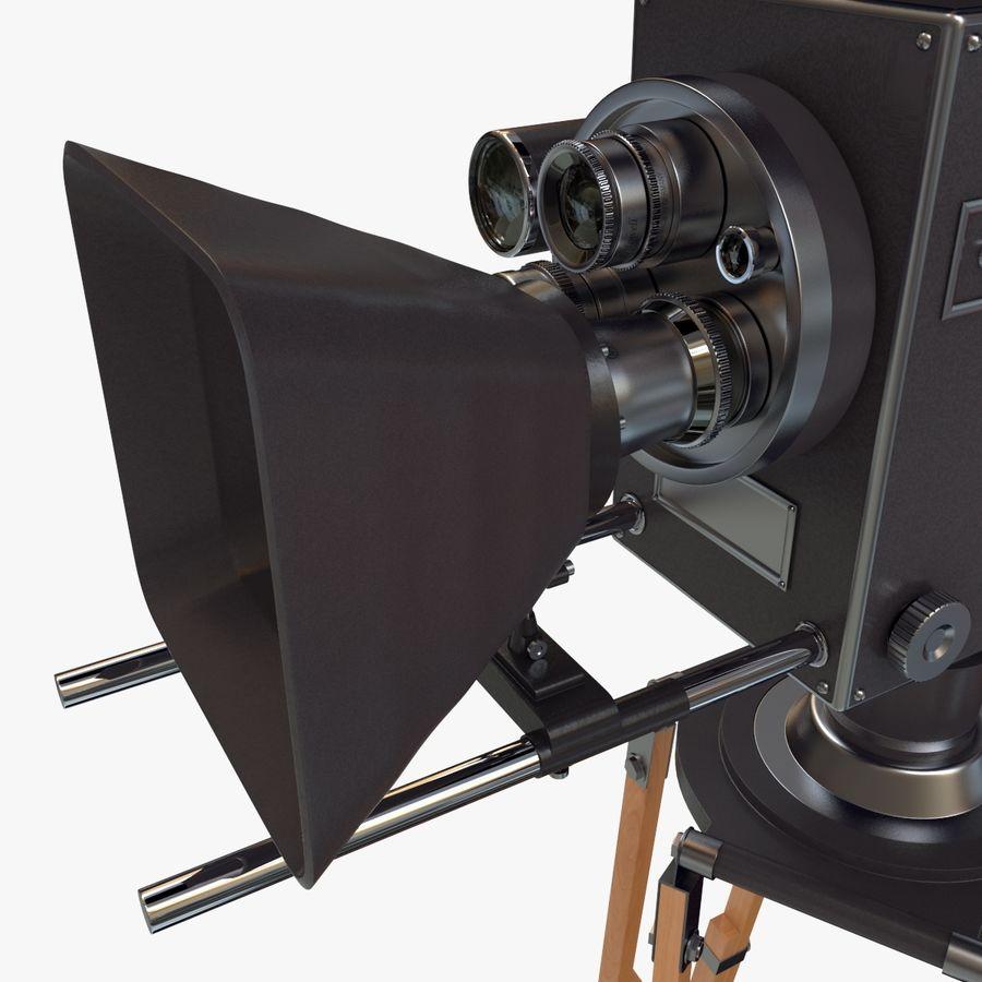 Retro Movie Camera royalty-free 3d model - Preview no. 13