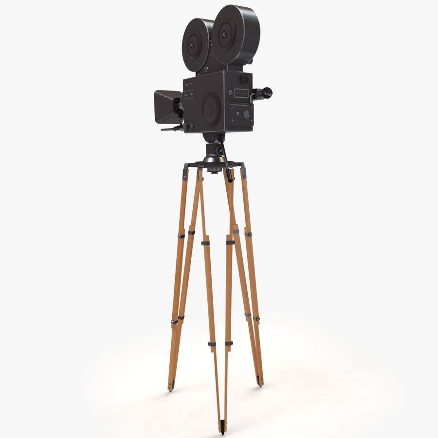 Retro Movie Camera royalty-free 3d model - Preview no. 4