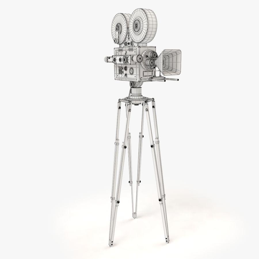 Retro Movie Camera royalty-free 3d model - Preview no. 14