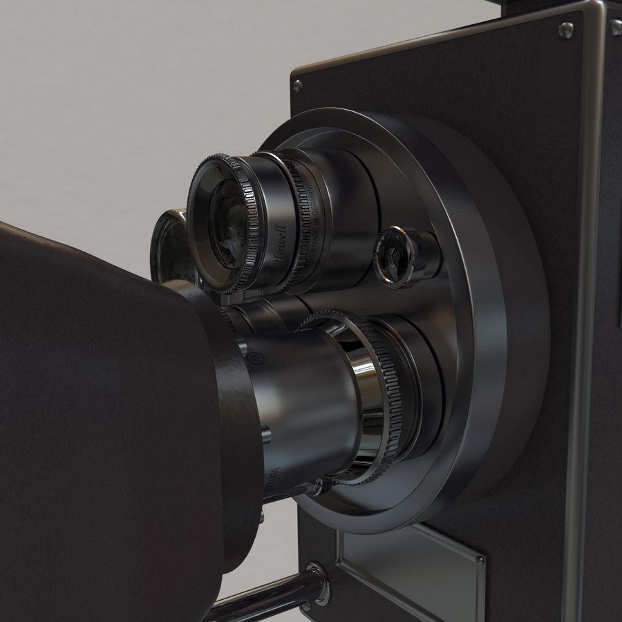 Retro Movie Camera royalty-free 3d model - Preview no. 6