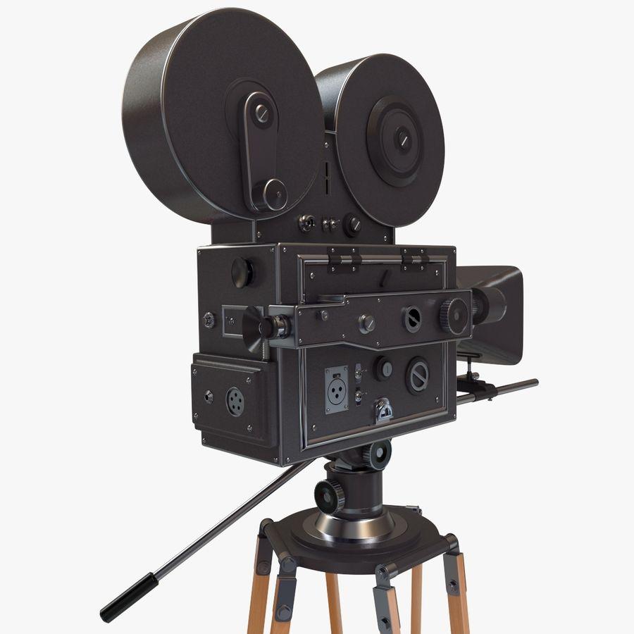 Retro Movie Camera royalty-free 3d model - Preview no. 7