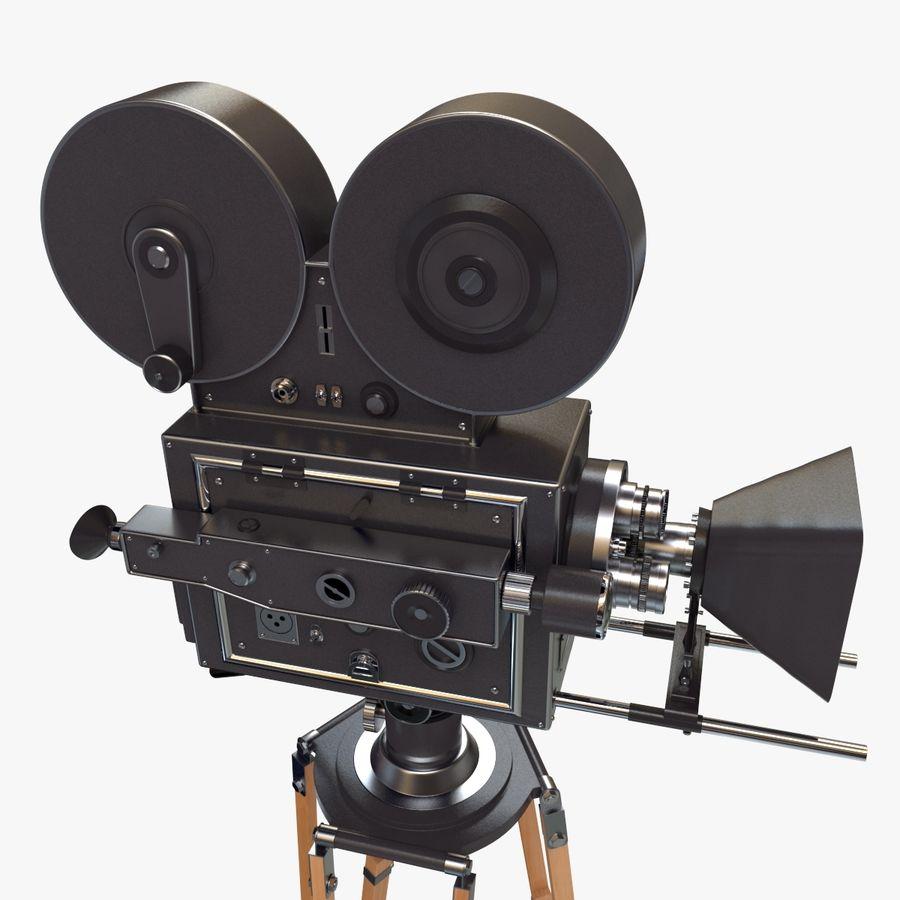 Retro Movie Camera royalty-free 3d model - Preview no. 8