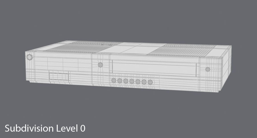 VCR royalty-free 3d model - Preview no. 14
