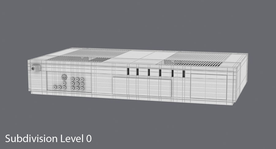 VCR royalty-free 3d model - Preview no. 16