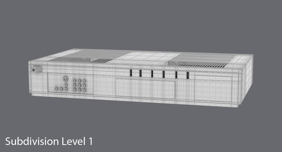 VCR royalty-free 3d model - Preview no. 19