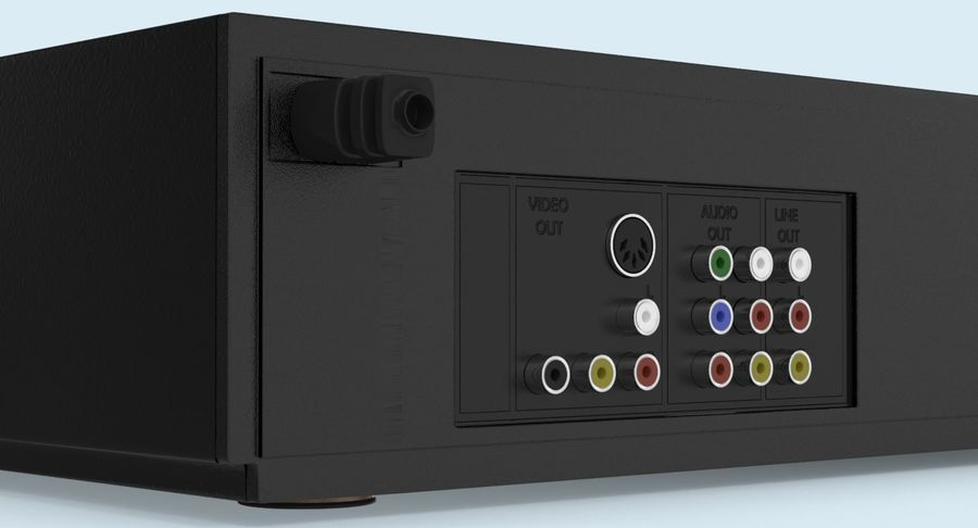 VCR royalty-free 3d model - Preview no. 12
