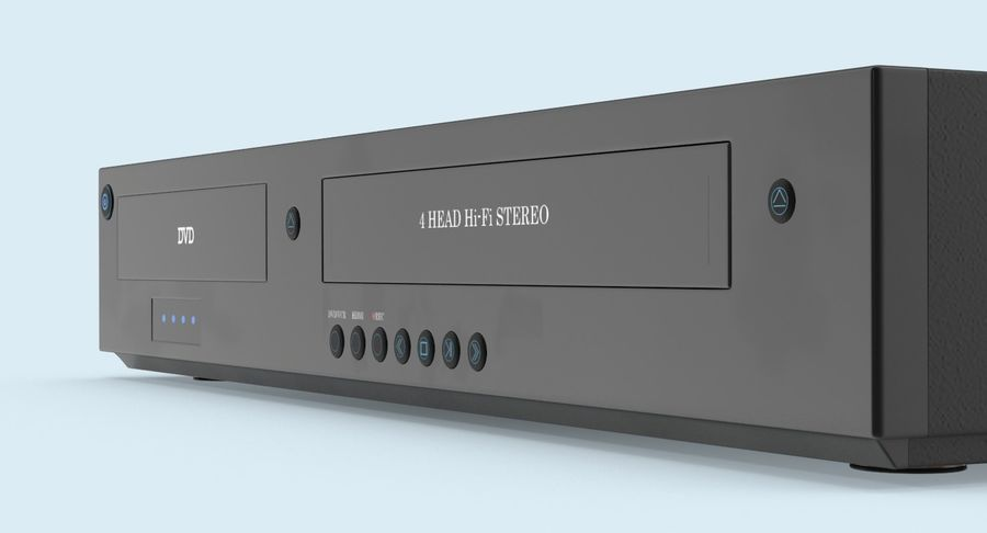 VCR royalty-free 3d model - Preview no. 9