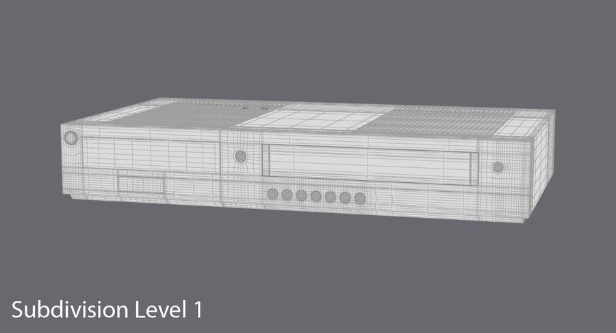 VCR royalty-free 3d model - Preview no. 17
