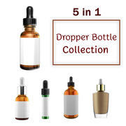 Beauty Care Cosmetic Dropper Bottle Collection 3d model