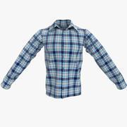 Męska koszula 3d model